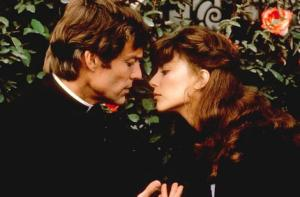 Richard Chamberlain and Rachel Ward appear in a scene from The Thorn Birds.