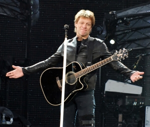 06/24/2011 - Bon Jovi - Bon Jovi in Concert at Old Trafford in Manchester - June 24, 2011 - Old Trafford - Manchester, UK - Keywords: Jon Bon Jovi, Richie Sambora, Tico Torres, David Bryan Orientation: Portrait Face Count: 1 - False - Photo Credit: Solarpix / PR Photos - Contact (1-866-551-7827) - Portrait Face Count: 1